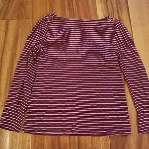 JCrew Burgundy Stripped Shirt